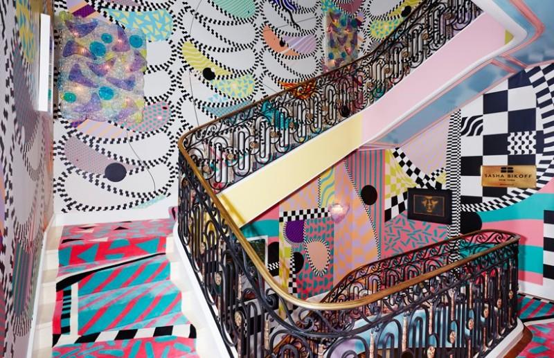Sasha Bikoff's Bold Art stair art Sasha Bikoff's Bold Stair Art Sasha Bikoff   s Bold Art 2