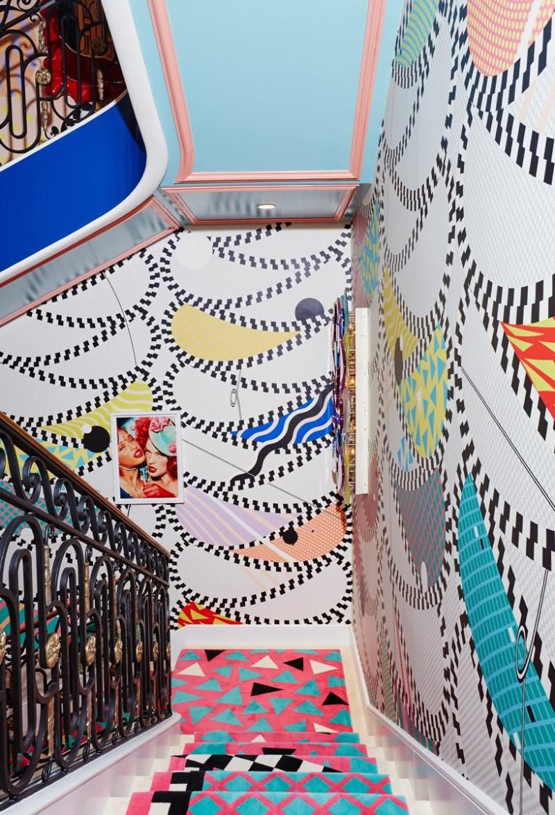 Sasha Bikoff's Bold Art stair art Sasha Bikoff's Bold Stair Art Sasha Bikoff   s Bold Art 5