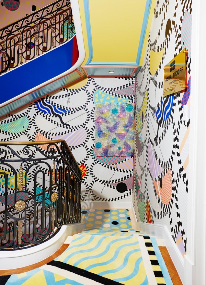Sasha Bikoff's Bold Art stair art Sasha Bikoff's Bold Stair Art Sasha Bikoff   s Bold Art 6
