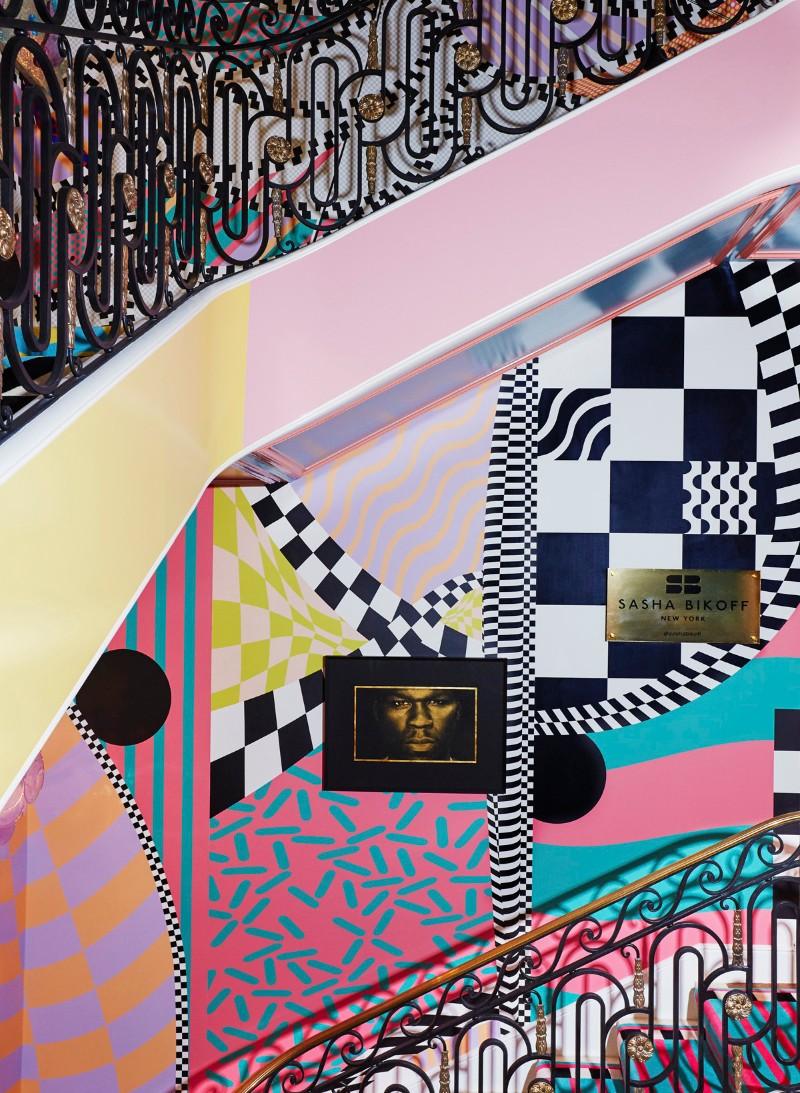 Sasha Bikoff's Bold Art stair art Sasha Bikoff's Bold Stair Art Sasha Bikoff   s Bold Art 8