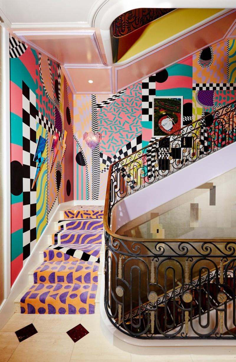 Sasha Bikoff's Bold Art stair art Sasha Bikoff's Bold Stair Art Sasha Bikoff   s Bold Art