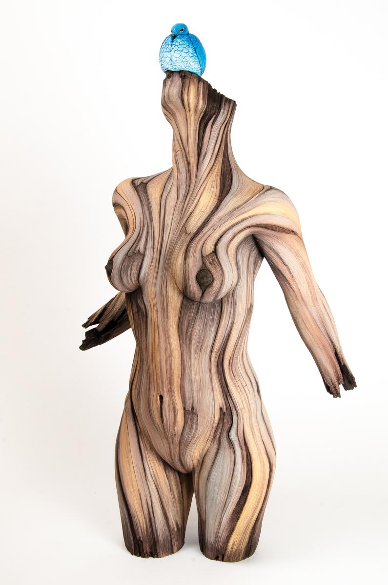 ceramic sculpture Best of Christopher David White's Hyperreal Ceramic Sculpture bluebird