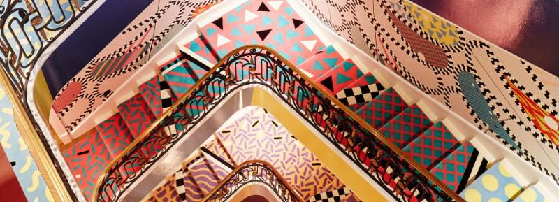Sasha Bikoff's Bold Art stair art Sasha Bikoff's Bold Stair Art sasha bikoff kips bay designboom 1800