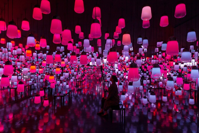TeamLab's Shining Bright with Its New Art Exhibition