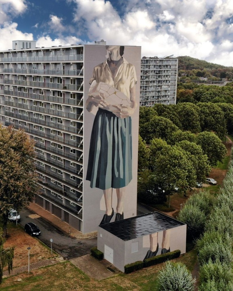 World's Giant Murals Get Dressed Up by Street Artist Hyuro wall murals World's Giant Wall Murals Get Dressed Up by Street Artist Hyuro World   s Giant Murals Get Dressed Up by Street Artist Hyuro 7