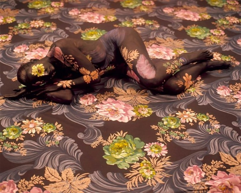 Camouflaged Self Portraits with A Floral Print