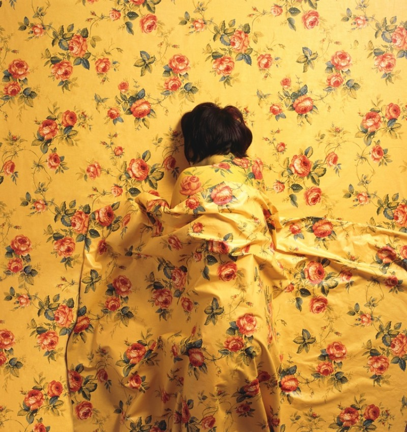 Camouflaged Portraits with A Floral Print