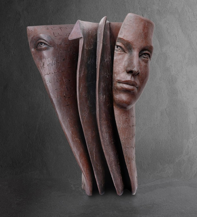 Stunning Bronze Sculptures by Paola Grizi Book Sculptures Stunning Bronze Book Sculptures by Paola Grizi Stunning Bronze Sculptures by Paola Grizi 2