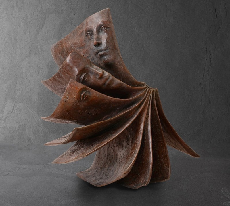 Stunning Bronze Book Sculptures by Paola Grizi Book Sculptures Stunning Bronze Book Sculptures by Paola Grizi Stunning Bronze Sculptures by Paola Grizi