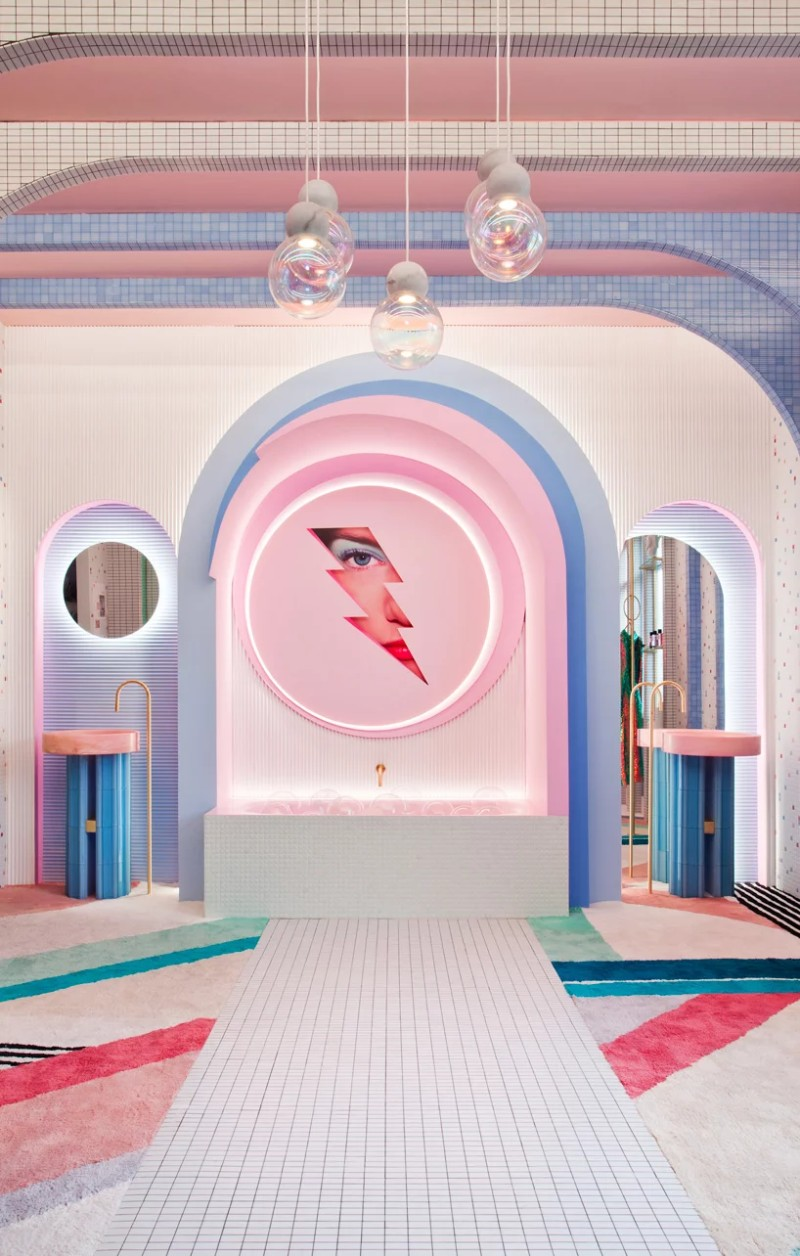 A Retro-Futuristic Dressing Room Design by Patricia Bustos dressing room design Wonder Galaxy – Patricia Bustos' Retro-Futuristic Dressing Room Design A Retro Futuristic Dressing Room by Patricia Bustos 10