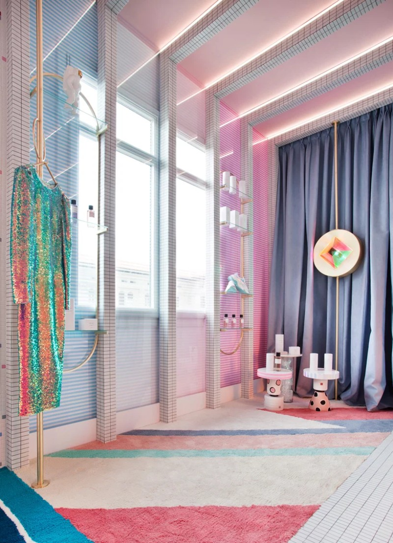A Retro-Futuristic Dressing Room Design by Patricia Bustos dressing room design A Retro-Futuristic Dressing Room Design by Patricia Bustos A Retro Futuristic Dressing Room by Patricia Bustos 7