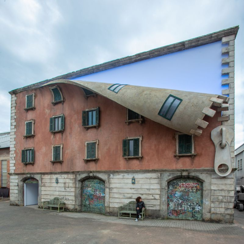 Alex Chinneck Unzipped A Building During Milan Design Week 2019 alex chinneck Alex Chinneck Unzipped A Building During Milan Design Week 2019 Chinneck Unzipped A Building During Milan Design Week 2019