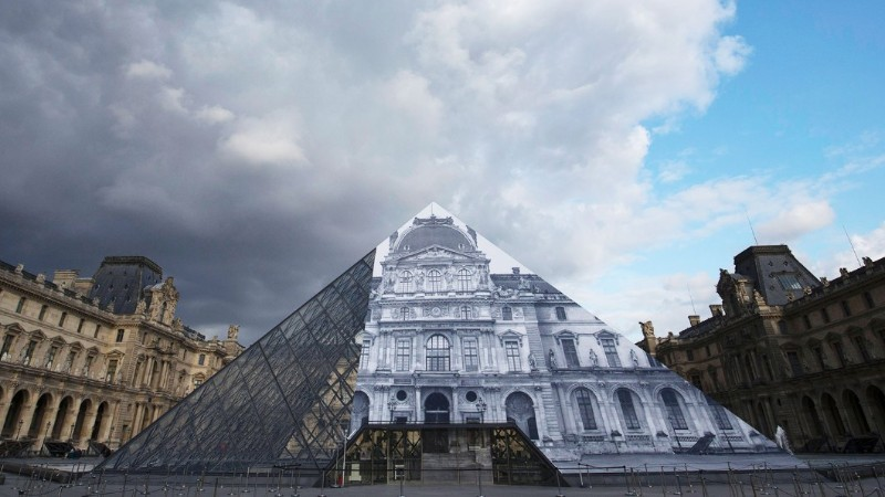 Louvre's Paper Art Installation Torned To Shreds By Visitors louvre Louvre's Paper Art Installation: A Mesmerizing Optical Illusion Effect Paper Art Installation Torned To Shreds By Visitors 12