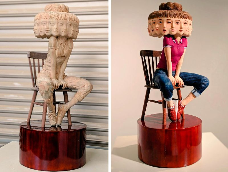 Glitched Wood Carving Sculptures by Yoshitoshi Kanemaki wood carving New Glitched Wood Carving Sculptures by Yoshitoshi Kanemaki Glitched Wood Sculptures by Kanemaki 4