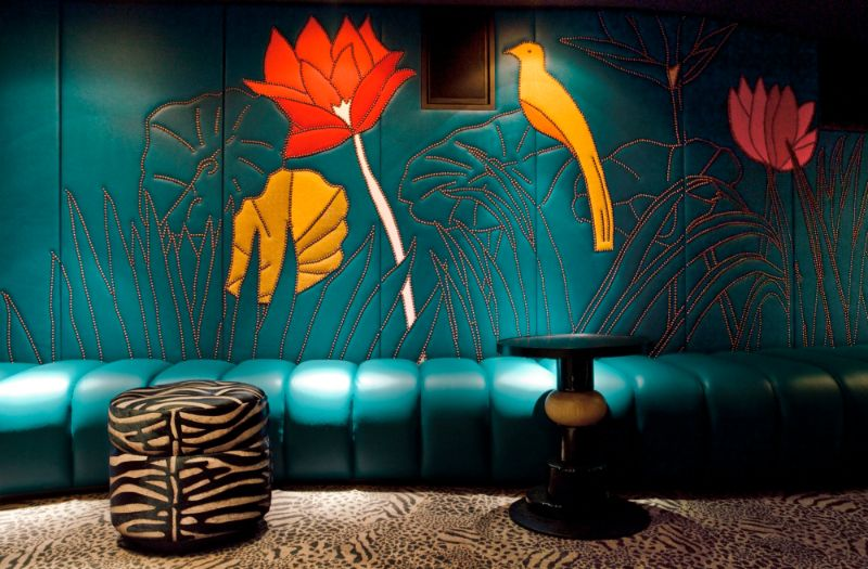 India Mahdavi's Rainbow-Bright Hued Restaurant Designs india mahdavi India Mahdavi's Colourful And Contemporary Restaurant Designs Mahdavis Most Flamboyant and Artsy Restaurant Design 11