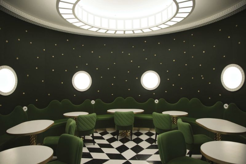 India Mahdavi's Rainbow-Bright Hued Restaurant Designs india mahdavi India Mahdavi's Rainbow-Bright Hued Restaurant Designs Mahdavis Most Flamboyant and Artsy Restaurant Design 14
