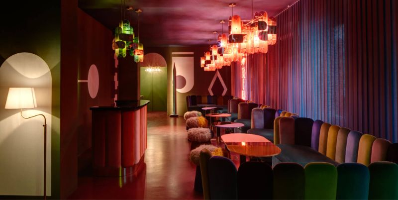 India Mahdavi's Rainbow-Bright Hued Restaurant Designs india mahdavi India Mahdavi's Rainbow-Bright Hued Restaurant Designs Mahdavis Most Flamboyant and Artsy Restaurant Design 2
