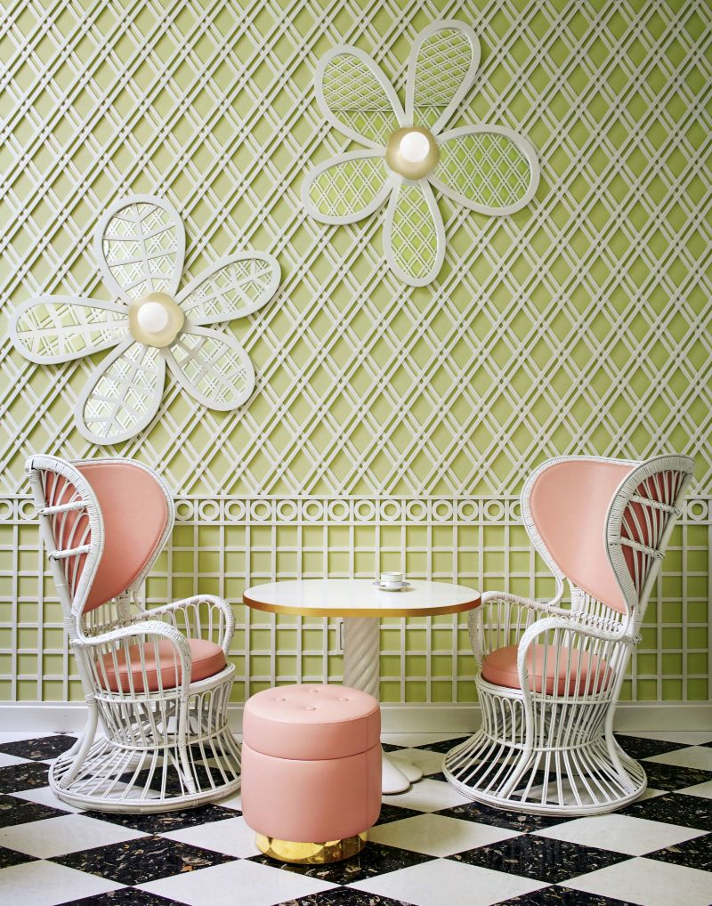 India Mahdavi's Rainbow-Bright Hued Restaurant Designs india mahdavi India Mahdavi's Colourful And Contemporary Restaurant Designs Mahdavis Most Flamboyant and Artsy Restaurant Design 4