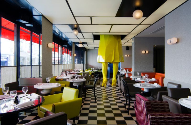 India Mahdavi's Rainbow-Bright Hued Restaurant Designs india mahdavi India Mahdavi's Rainbow-Bright Hued Restaurant Designs Mahdavis Most Flamboyant and Artsy Restaurant Design 7