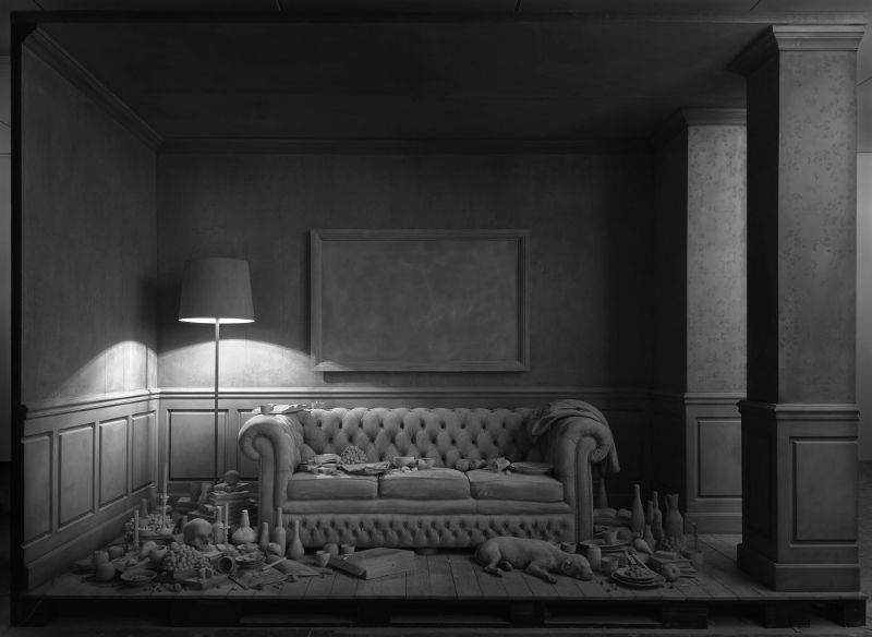 Monochrome Art Installation by Hans Op de Beeck hans op de beeck Monochrome Art Installation by Hans Op de Beeck Monochrome Art Installation 11