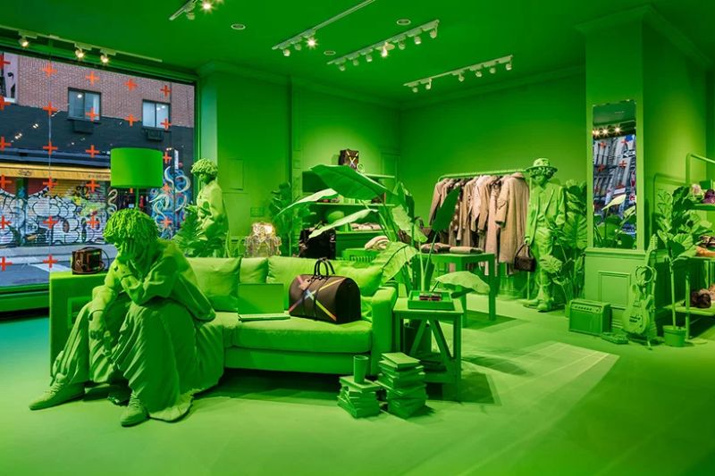 A Splash of Neon Green: Virgil Abloh and Louis Vuitton's Pop-Up Store virgil abloh A Splash of Neon Green: Virgil Abloh and Louis Vuitton's Pop-Up Store A Splash of Neon Green 6