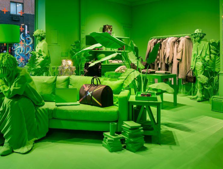 virgil abloh A Splash of Neon Green: Virgil Abloh and Louis Vuitton's Pop-Up Store A Splash of Neon Green feature 740x560