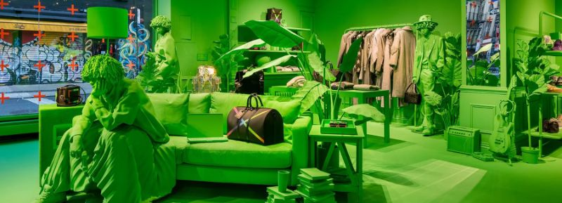 A Splash of Neon Green: Virgil Abloh and Louis Vuitton's Pop-Up Store virgil abloh A Splash of Neon Green: Virgil Abloh and Louis Vuitton's Pop-Up Store A Splash of Neon Green