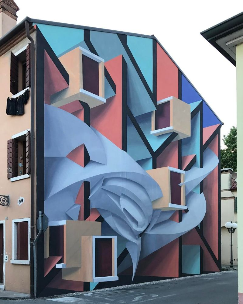 Italian Artist Paints Buildings That Give an Optical Illusion Effect italian artist Italian Artist Paints Buildings That Give an Optical Illusion Effect Artist Paints Buildings That Give an Optical Illusion Effect 10