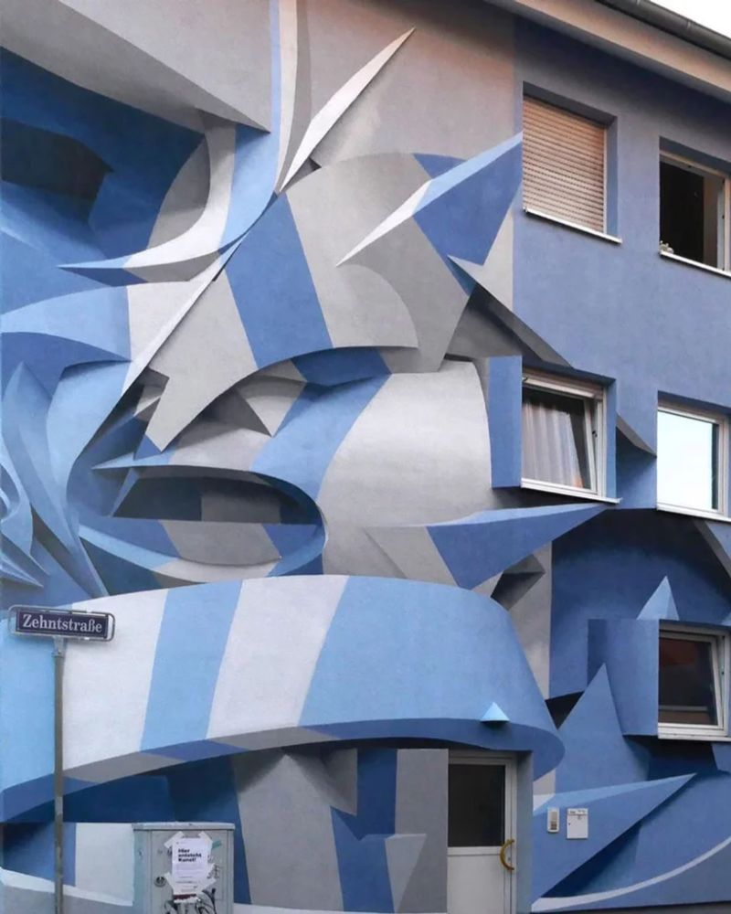 Italian Artist Paints Buildings That Give an Optical Illusion Effect italian artist Italian Artist Paints Buildings That Give an Optical Illusion Effect Artist Paints Buildings That Give an Optical Illusion Effect 3