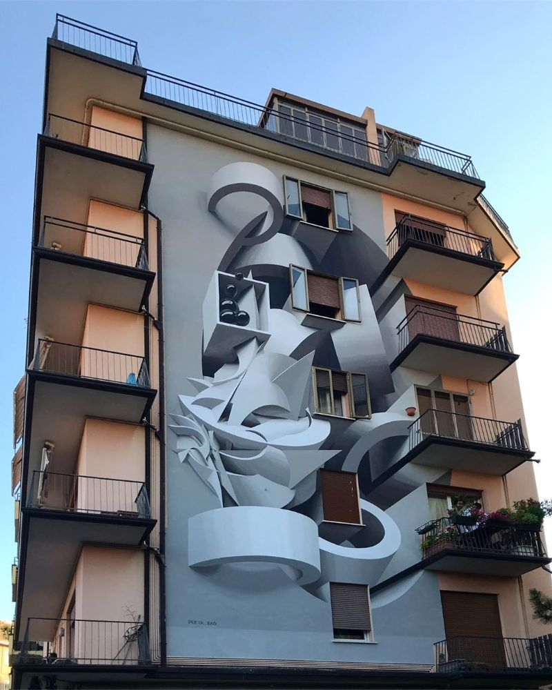 Italian Artist Paints Buildings That Give an Optical Illusion Effect italian artist Italian Artist Paints Buildings That Give an Optical Illusion Effect Artist Paints Buildings That Give an Optical Illusion Effect 4