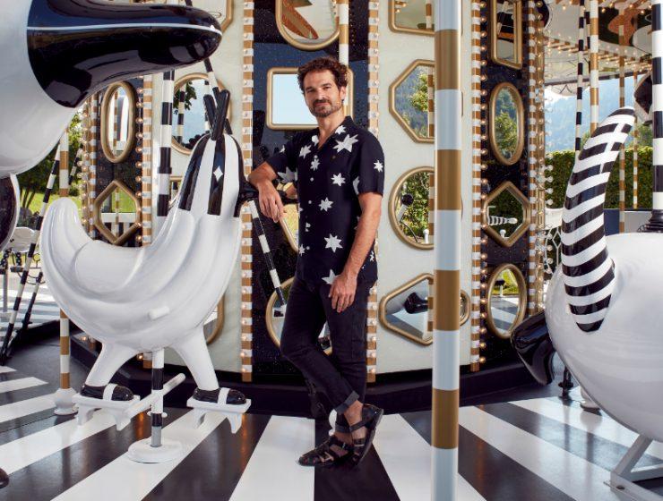 jaime hayon Jaime Hayon's Black-And-White Carousel Studded with Swarovski Crystals Hayons Black And White Carousel Studded with Crystals feature 740x560