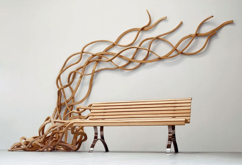 Reinoso's Spaghetti Bench: Modern Art That Explores The Use of Wood modern art Reinoso's Spaghetti Bench: Modern Art That Explores The Use of Wood Reinoso   s Spaghetti Bench Art That Explores The Use of Wood 2