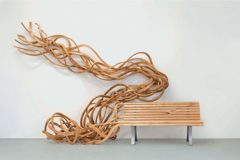 Reinoso's Spaghetti Bench: Modern Art That Explores The Use of Wood modern art Reinoso's Spaghetti Bench: Modern Art That Explores The Use of Wood Reinoso   s Spaghetti Bench Art That Explores The Use of Wood 4