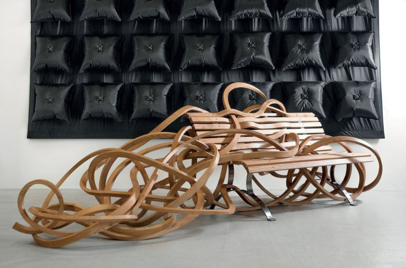 Reinoso's Spaghetti Bench: Modern Art That Explores The Use of Wood modern art Reinoso's Spaghetti Bench: Modern Art That Explores The Use of Wood Reinoso   s Spaghetti Bench Art That Explores The Use of Wood 7