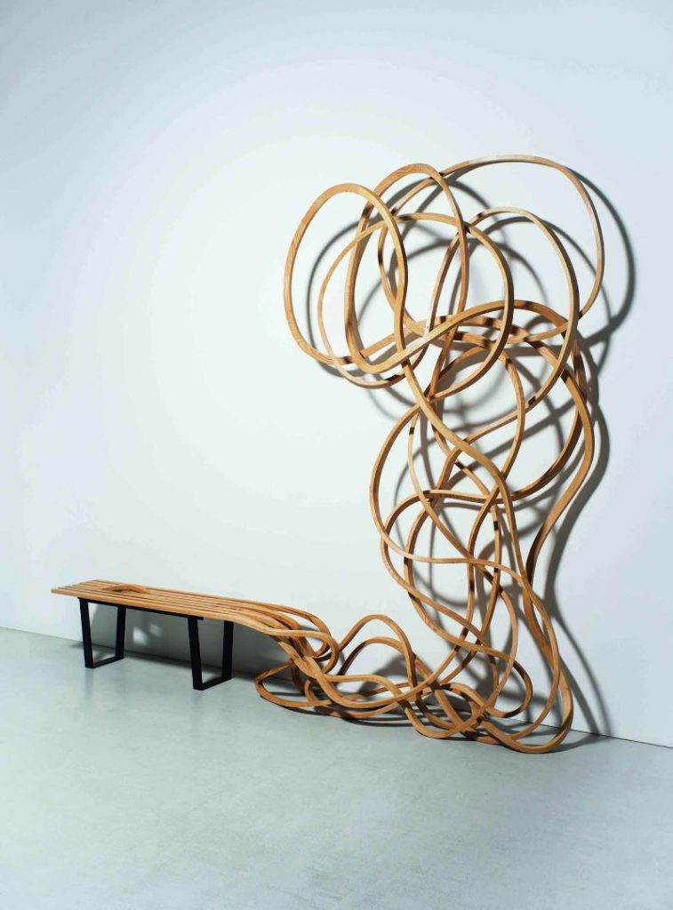 Reinoso's Spaghetti Bench: Modern Art That Explores The Use of Wood modern art Reinoso's Spaghetti Bench: Modern Art That Explores The Use of Wood Reinoso   s Spaghetti Bench Art That Explores The Use of Wood 8 757x1024