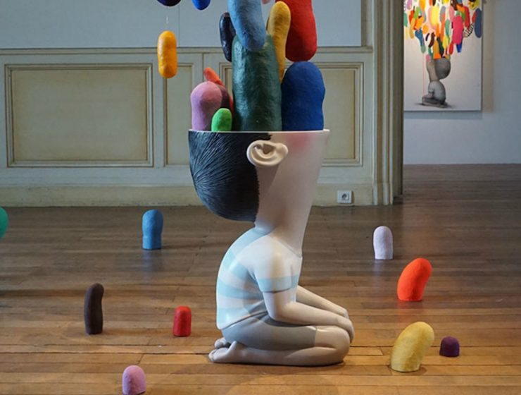 art exhibition Seth Globepainter's Art Exhibition Fills a Historic Castle in France Seth Globepainter   s Exhibition Fills a Historic Castle in France feature 740x560